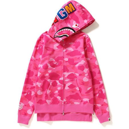 pink bape sweater