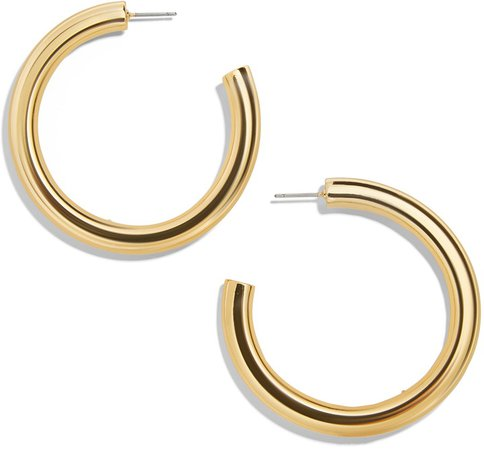 Dalilah Large Tube Hoop Earrings