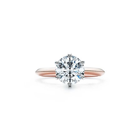 the tiffany setting 18k rose gold ring