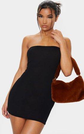 Black Jersey Bandeau Bodycon Dress. Dresses | PrettyLittleThing