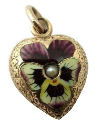 victorian pansy & violet locket