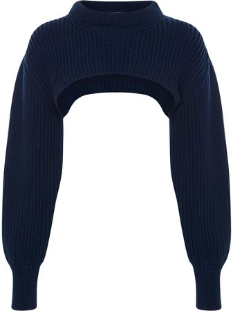 Shop Alexander McQueen chunky ribbed knit cropped top with Express Delivery - FARFETCH