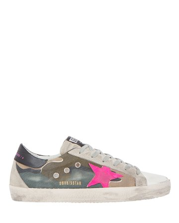 Golden Goose | Superstar Camouflage Canvas Sneakers | INTERMIX®