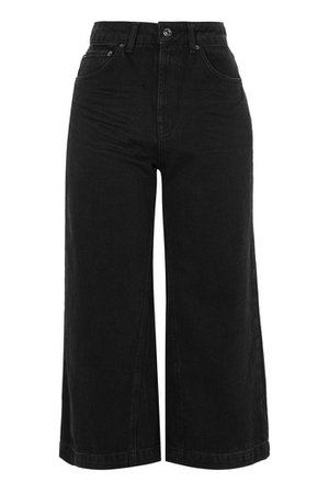 Clean Black Cropped Wide Leg Jeans | Topshop