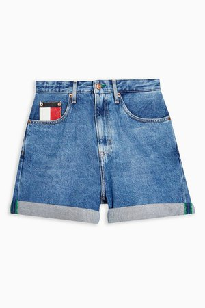 Blue Mom Shorts by Tommy Jeans | Topshop