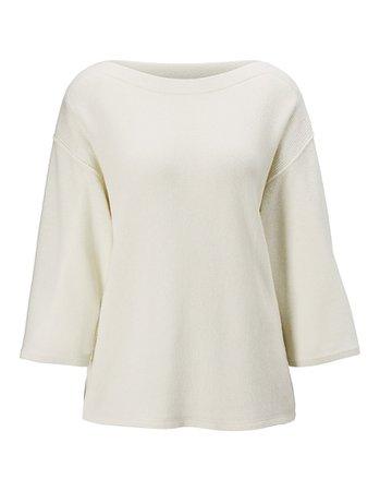 Cashmere jumper, cappuccino melange, dark brown | MADELEINE Fashion