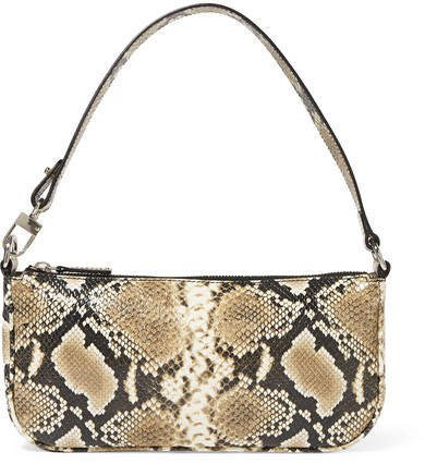 Rachel Snake-effect Leather Shoulder Bag - Snake print