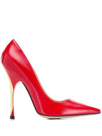Red Roberto Festa Tosca Pointed-Toe Pumps | Farfetch.com