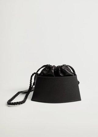 Rigid mini bag - Women | Mango USA black