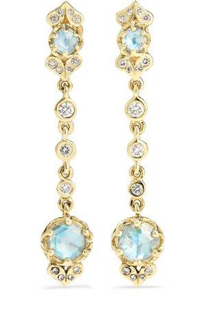 Larkspur & Hawk | Ivy Ohrringe aus 14 Karat Gold mit Diamanten | NET-A-PORTER.COM
