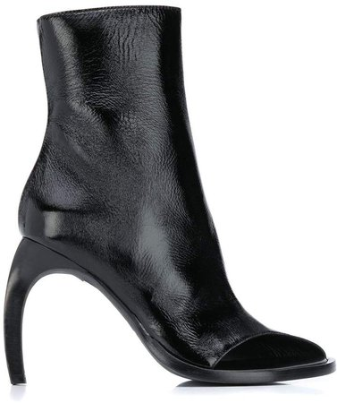 Curved-Heel Ankle Boots