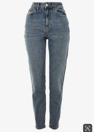 dark wash mom jeans