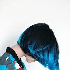 blue short hair