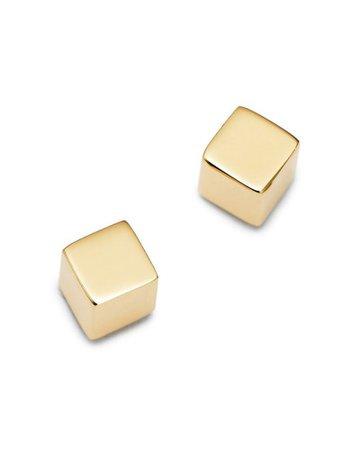 Moon & Meadow Cube Stud Earrings