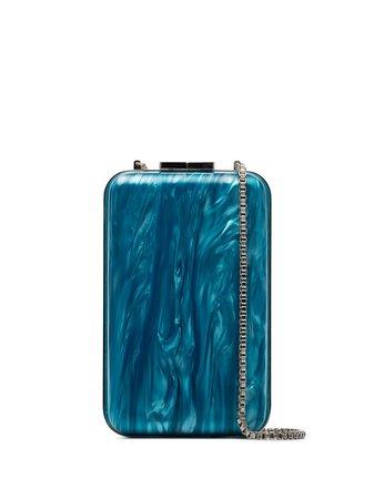 Marzook marble-effect Clutch Bag - Farfetch