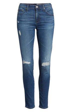 AG The Legging Ankle Super Skinny Jeans 9 Year Universal Mended