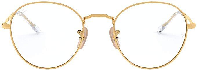 Amazon.com: Ray-Ban RX3582V Round Metal Eyeglass Frames Non Polarized Prescription Eyewear, Gold/Demo Lens, 51 mm: Clothing