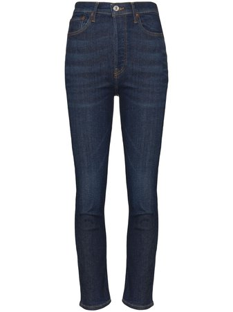 Re/done Cropped High-Rise Skinny Jeans Ss20 | Farfetch.com