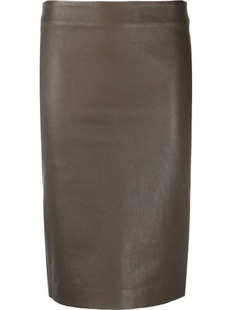 Theory Leather Pencil Skirt - Farfetch