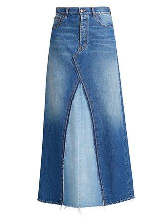 Maison Margiela Spliced Denim Maxi Skirt | SaksFifthAvenue