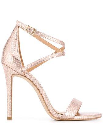 Michael Michael Kors Metallic Strappy Sandals 40S0ATHA1E Pink | Farfetch
