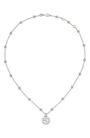 Gucci Silver Interlocking-G Pendant Necklace | Nordstrom