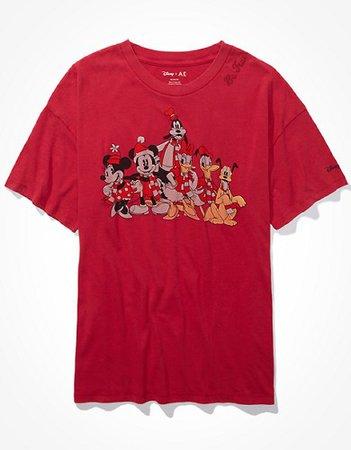 Disney X AE Graphic T-Shirt red