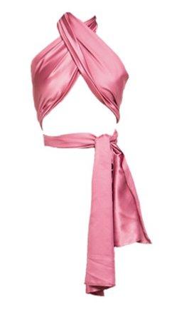 DOUSH scarf silk top