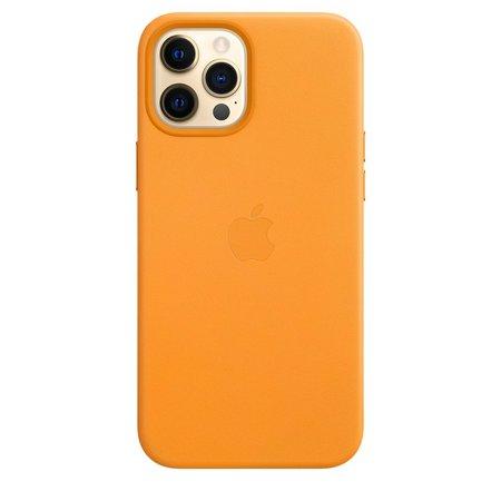 iPhone12 ProMaxiçin MagSafeözellikli DeriKılıf- KaliforniyaTuruncusu - Apple (TR)