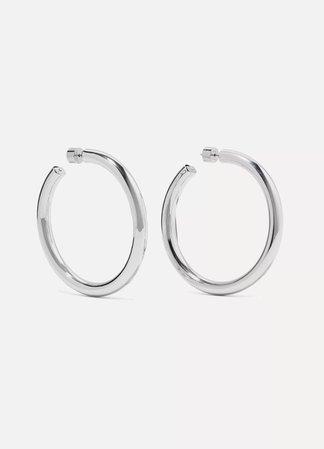 Silver Samira silver hoop earrings | Jennifer Fisher | NET-A-PORTER