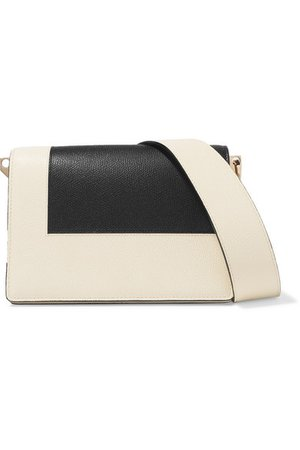Valextra | Swing two-tone textured-leather shoulder bag | NET-A-PORTER.COM