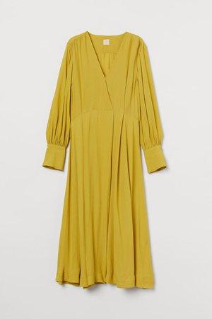 Платье длиной до икры - Желтый - Женщины | H&M RU