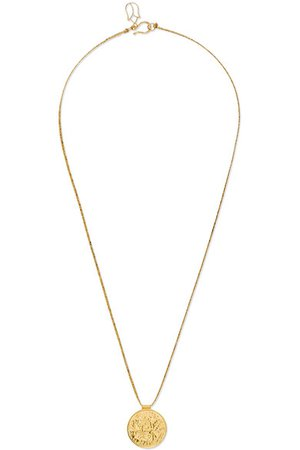 Pippa Small | 18-karat gold and cord necklace | NET-A-PORTER.COM