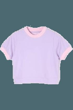 Lavender and Pink Crop Top