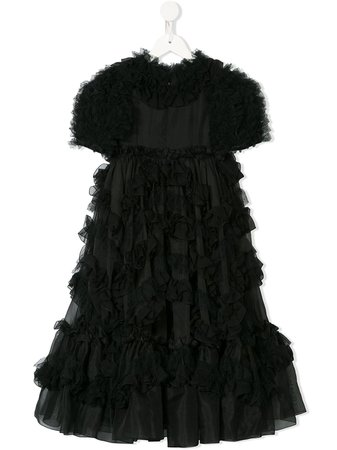 Shop black Dolce & Gabbana Kids ruffled dress with Express Delivery - Farfetch