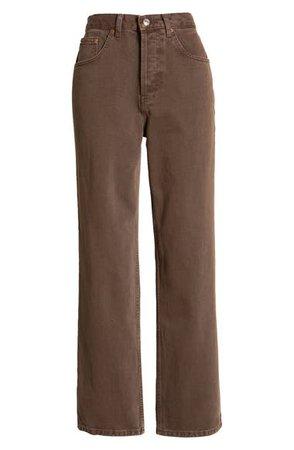 Topshop Runway High Waist Flare Leg Jeans | Nordstrom