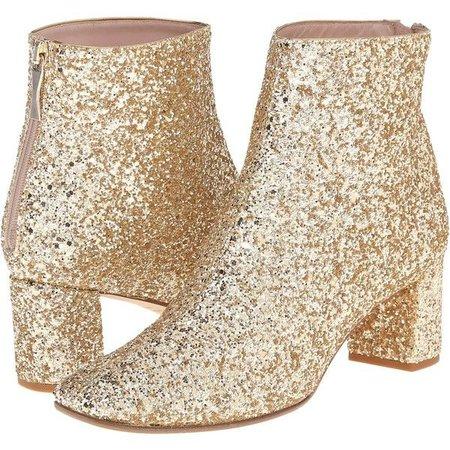 Kate Spade New York Tal (Gold Glitter) Women's Zip Boots