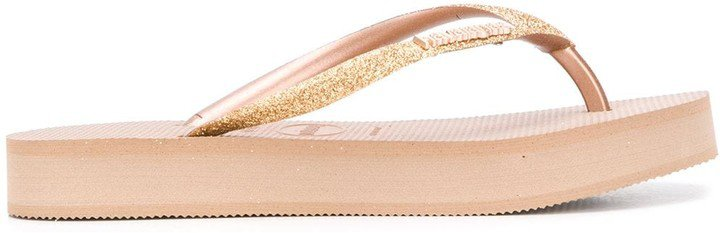 Glitter Flatform Flip Flops