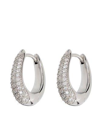 Tom Wood Liz crystal-embellished hoop earrings - FARFETCH