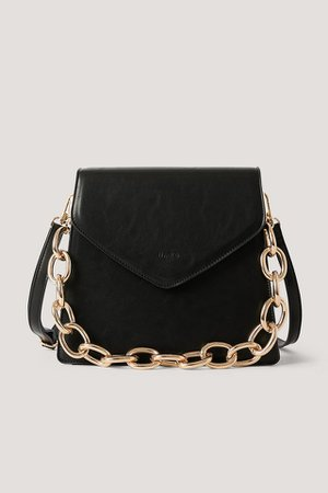 Big Chain Trapeze Bag Black | na-kd.com