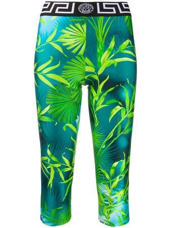 Versace Jungle Print Cropped Leggings - Farfetch