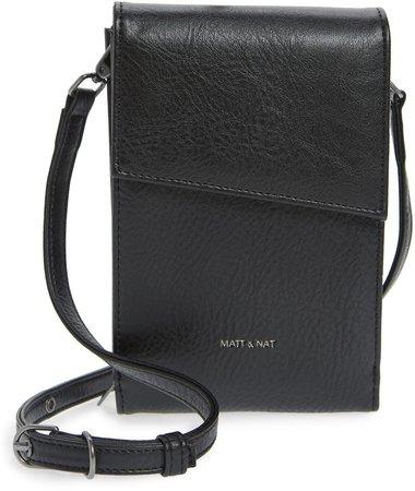 Met Vegan Leather Crossbody Wallet