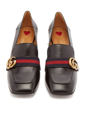 Peyton faux-pearl embellished leather loafers | Gucci | MATCHESFASHION.COM UK