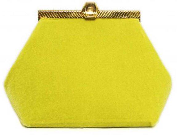 brandon maxwell the vices lime velvet bag