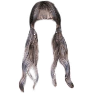 Silver Grey/Gray Hair PNG