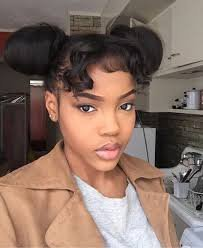 space bun hairstyles for black girls - Google Search