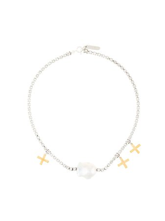 Le Chic Radical Baroque Pearl Choker Necklace