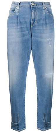 High Rise Tapered Jeans