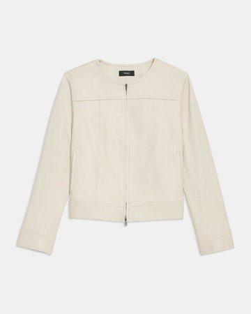 Jean Moto Jacket in Leather