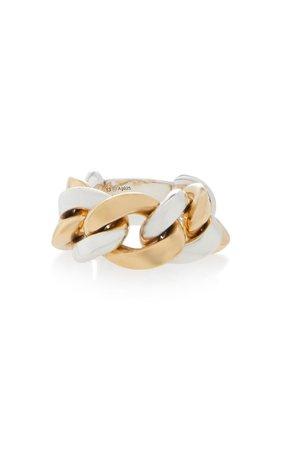 Two-Tone Woven Gold-Plated Sterling Silver Ring by Bottega Veneta | Moda Operandi